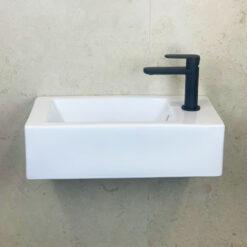 Tvättställ Vit QBad Small