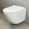 Vägghängd Toalettstol Vit Qbad Round