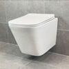 Vägghängd Toalettstol Vit Qbad Square