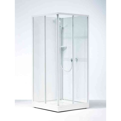 Duschkabin Ifö 88 80x80 Vita Profiler/Klarglas