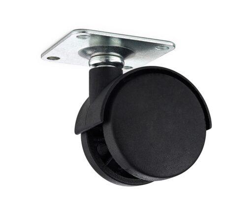 Möbelhjul 1440 50mm Svart Nylon 4-Pack Habo
