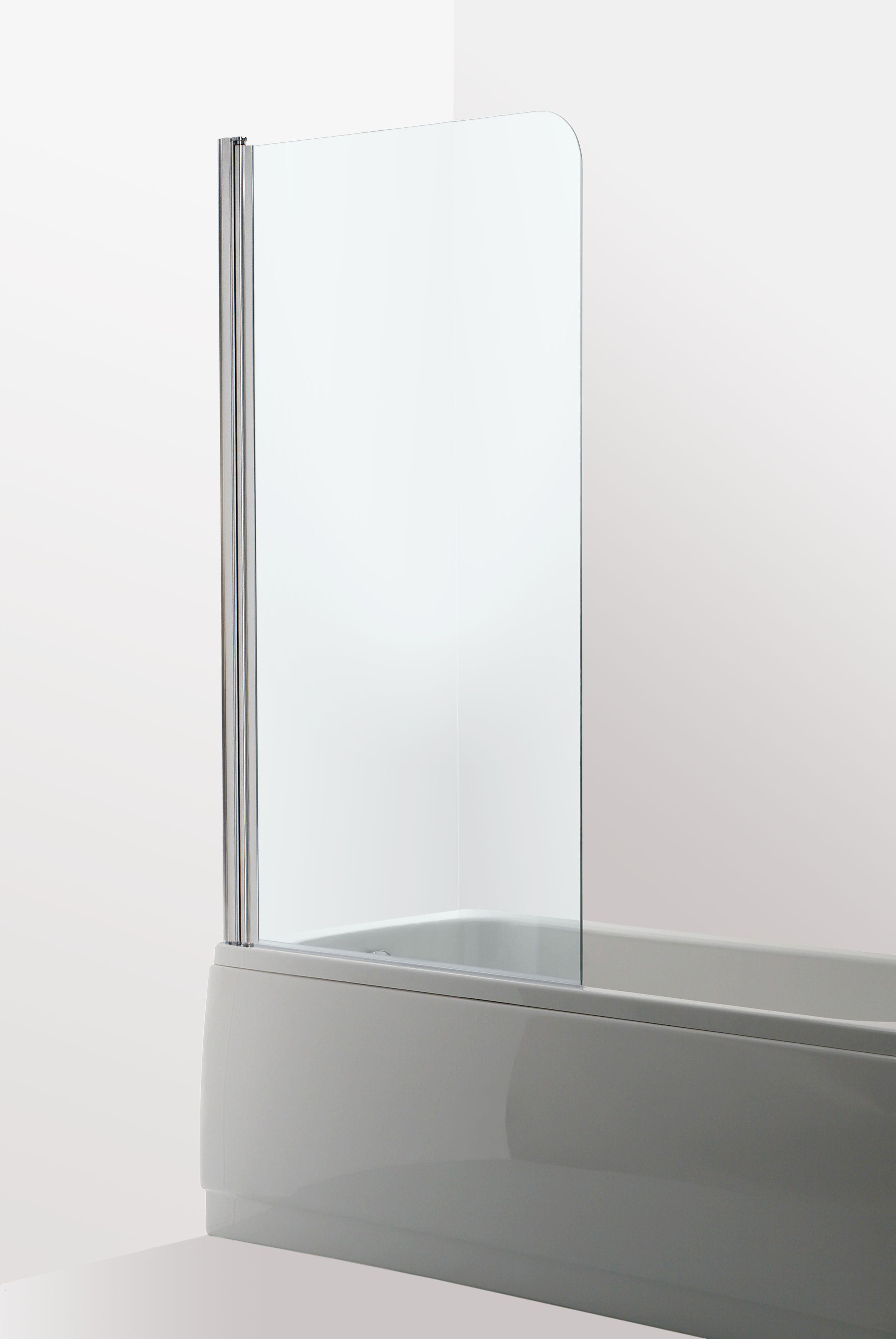 Badkarsvägg Duschbyggarna 23 80x15 Krom Klarglas