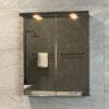 Spegelskåp Svart Matt 60 cm QBad Solsidan